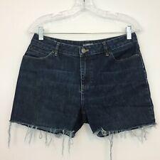 J. Jill Women's Jeans Shorts Size 8 CUT OFFS Frayed Stretch