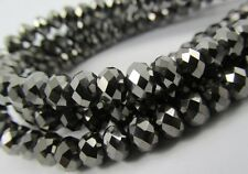 Glass Rondelle Faceted Black Nickel Loose Beads Spacer 4mm 6mm 8mm 10mm 12mm