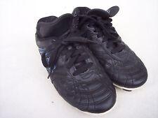 Estero Boys Youth Soccer Shoes Cleats US Sz 1 Black Blue Athletic Lace Up