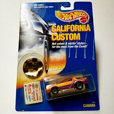 Hot Wheels California Custom RED Camaro #1289 1989 RARE New Old Stock HTF