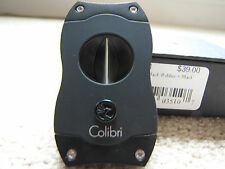 Colibri V-Cut Cigar Cutter - Black - CU300T1 - New
