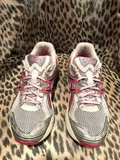 Asics Gel 1160 Women US SIZE 5 Running Athletic Shoes White Silver Pink (F17)