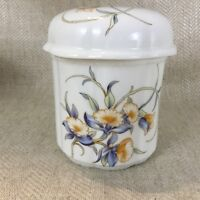Aynsley Just Orchids Storage Jar Canister  English Bone China Orchid Flowers