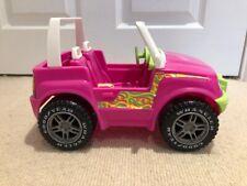 1999 Barbie Pink/ Green Jeep Wrangler Convertible Goodyear Tires Mattel RARE
