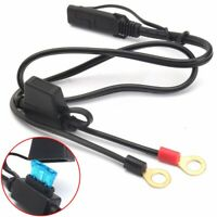 12V Motorcycle USB Cable Adapter Connector Harness Terminal Ring Battery Charger