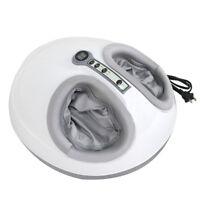 Electric Foot Massager Calf Leg Shiatsu Kneading Rolling Vibration Massage,White