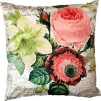 """Beautiful Beige / Bright Floral Cushion Covers With Fine Detail 18x18"""""""