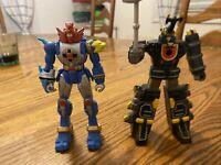"""Power Rangers Megazord Ninja Storm Accessories  2002 BVS 6"""" Figure Lot Of 2"""