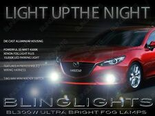 Xenon Halogen Fog Lamps Driving Light Kit + Harness for 2014 2015 Mazda3 3DR 5DR