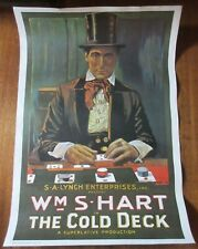 W.S. Hart / The Cold Deck - Poster Lithograph, Portal Publications, USA