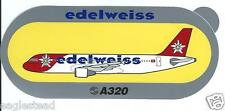 Baggage Label - Edelweiss - Airbus A320 - Sticker (BL540)