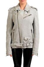 Just Cavalli Women's Gray Wool Zip Up Jacket Coat US S IT 40