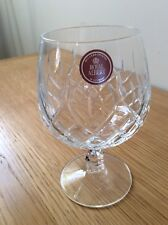 """Royal Albert Crystal Cut Glass ,1 Brandy Glass New with Label 5 1/4"""" Tall 2 1/2"""""""