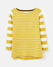 Joules 209719 3/4 Length Sleeve Jersey Striped Top - GOLD STRIPE