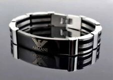 Men Armani Titanium Stainless Steel Bracelet Brand New Gift