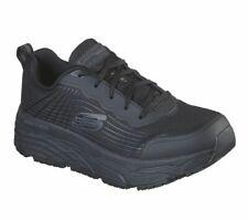 Trabajo de SKECHERS Wide Fit Negro Zapatos Hombres Memoria Espuma Cojín Antideslizante 200021