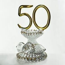 50th Wedding Anniversary Valentine Gift Ideas Gold Plated Glass Blown Crystals