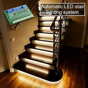 Stairway lighting. Smart stairway SNF-24. Motion sensor stair light. Smart home