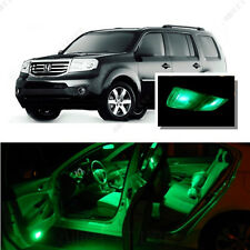 For Honda Pilot 2009-2016 Green LED Interior Kit + Green License Light LED
