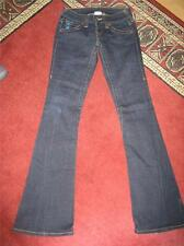 "Women's TRUE RELIGION ""Joey"" Blue Horseshoe bootcut jeans...size 25x33"