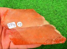 Natural Red Quartz Crystal Rock Point Haematite Kundalini Rising 281g 9cm #13