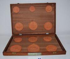 E1 12 anciens Sceaux Médievaux - Francs Maçons - valise archive royale belge