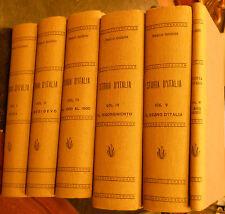 STORIA D'ITALIA - PAOLO GIUDICI -  NERBINI 1938/42 - VOLUMI DAL I AL VI - 12/16
