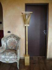 Lampada da terra piantana scultura  in legno anni 70 bonapace  2 disponibili