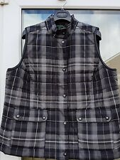 NEW RALPH LAUREN LADIES GILET BLACK GREY CHECK SIZE L    1X PLUS SIZE RANGE