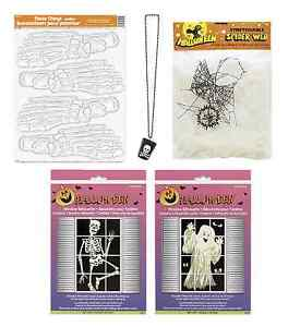 HALLOWEEN Party Decorations & Accessories Hanging Window Ghost Skeleton Balloons