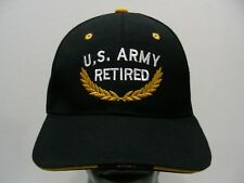 U.S. ARMY RETIRED - BLACK - ONE SIZE ADJUSTABLE BALL CAP HAT!