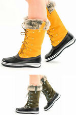 Ladies Women's Snow Ski Ankle Boots Winter Rain Thermal - Fully Fur Lined Sizes