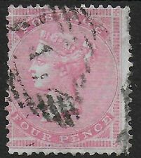 SG66a. 4d.Rose FU.  Fresh Example In Good Condition.  Cat.£150.  Ref.1/31