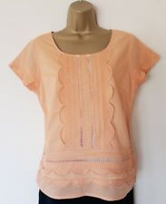 LOVELY MINT VELVET COTTON TOP SZ 12 IN VGC! APRICOT