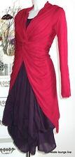 Braintree Long Shirt Twistes Sister XL 42 ruby red rot Hanf Naturfaser Jacke