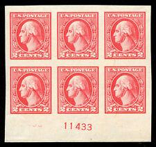 momen: US Stamps #534 Mint OG Plate Block of 6 SUPERB