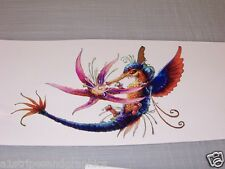 Humming Bird Flower  Window Decal Decals Sticker graphics Graphic Stickers