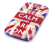 Custodia PER SAMSUNG GALAXY ACE + PLUS s7500 Custodia Protettiva Case Cover Keep Calm Inghilterra