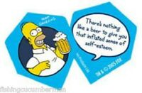 """THE SIMPSONS """"THERES NOTHING LIKE A BEER"""" DART FLIGHTS"""