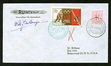 1960 Belgium rocket cover Tahoe City 16C1a - de Bruijn - Winter Olympics