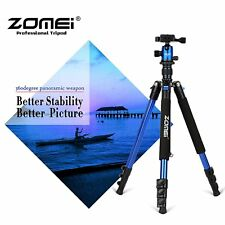ZOMEI Camera Tripod Aluminium Tripod Q555 Blue For Canon Sony Camera