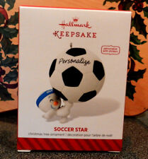 Hallmark 2014 Keepsake Ornament Soccer Star Personalize New Soccer Ball