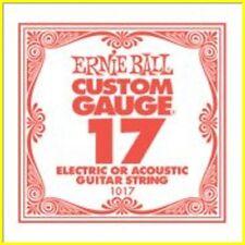 ERNIE BALL Corda 1017 - Plain 017 Per Acustica/Elettrica - Conf. 6 pezzi