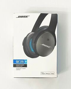 Bose QC 25 Quiet Comfort Acoustic Cancelling Headphones, Wired, Black