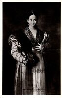 Vintage Postcard Portrait Of A Young Lady Antea The Beautiful Italy Unposted