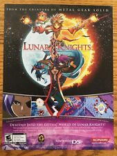 Lunar Knights Nintendo DS 2007 Vintage Game Poster Ad Print Art RPG Very Rare