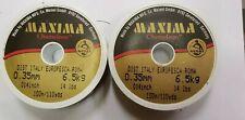 2 x spools of maxima chameleon fishing line, 100m,14lb