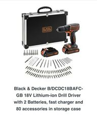 Black And Decker 18v Combi drill And 2 Batteries