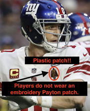 Eli Manning Walter Payton Man of Year Football Jersey Patch New York Giants NFL