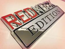 ⚠️ REDNECK EDITION TRUCK EMBLEM LOGO DECAL SIGN RED NECK CAR CHROME NEW*